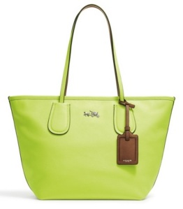 Coach+Taxi+Tote+in+Glo+Lime